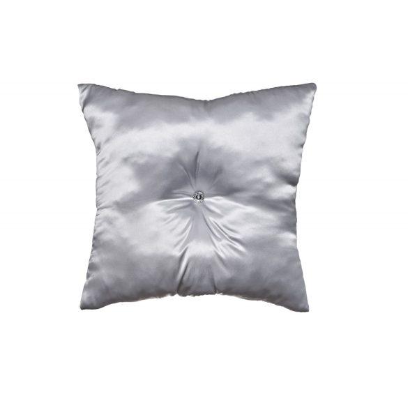 Ezüst színű szaténpárna 50x50