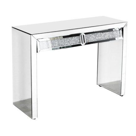 Konzolasztal 2 fiókkal, tükrös