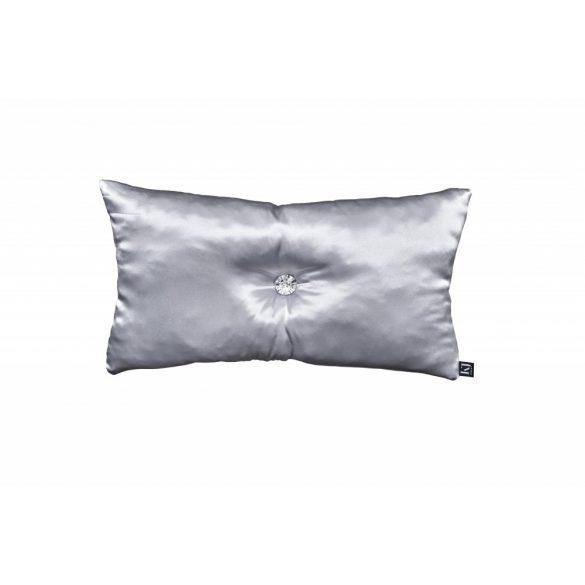 Ezüst színű szaténpárna 30x50